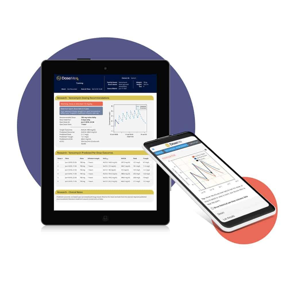DoseMeRx Dose Calculator App Screens